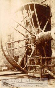 Beverley Minster interior, tread wheel crane, Beverley 1900s