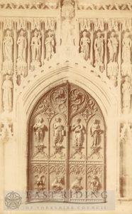 Beverley Minster interior, west door, Beverley 1900s