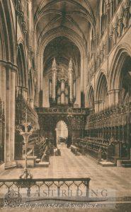 Beverley Minster interior, choir from east, Beverley 1920s