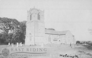 All Hallows Church from south west, Walkington  1900