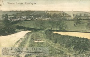 village from south, Warter 1908