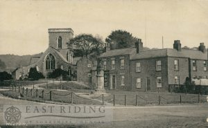 Green and St Helen's Church from south west, Welton 1905