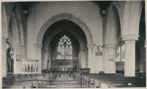 St Helen's Church, Nave and Chancel from west, Welton 1900