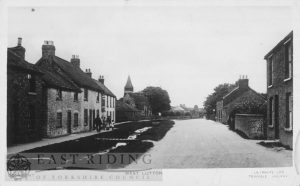 village street from west, West Lutton 1930