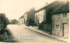 village street, Westow 1900