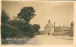 village street, Westow 1930