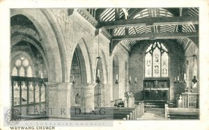 St Nicholas Church interior – nave from south west, Wetwang 1904