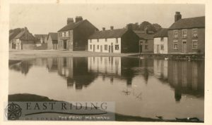 pond and 'Black Swan' from south east, Wetwang 1920