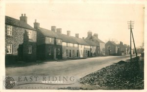 village street from east, Wetwang 1920