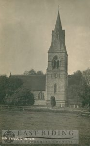 St John Evangelist Church from south, Whitwell 1921