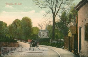 near Well Lane corner, Hall in centre, Willerby 1900