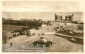 Pier Head Towers and War Memorial, Withernsea 1920