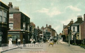 Queen Street (centre) from south east, Withernsea 1910