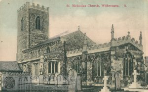 St Nicholas Church from south east, Withernsea 1900