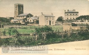 Convalescent Home and St Nicholas church from south east, Withernsea 1900