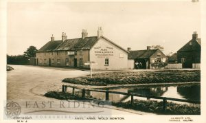 pond and Anvil Arms from south west, Wold Newton  1920