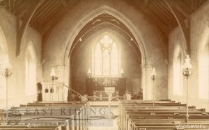 St Peter's Church interior from west, Woodmansey 1900