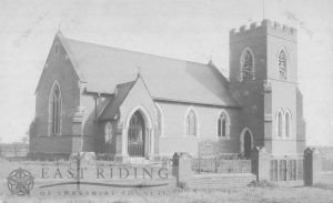 St Peter's Church exterior from north east, Woodmansey 1900