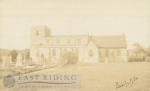 All Saints church from south, Bishop Burton 1900