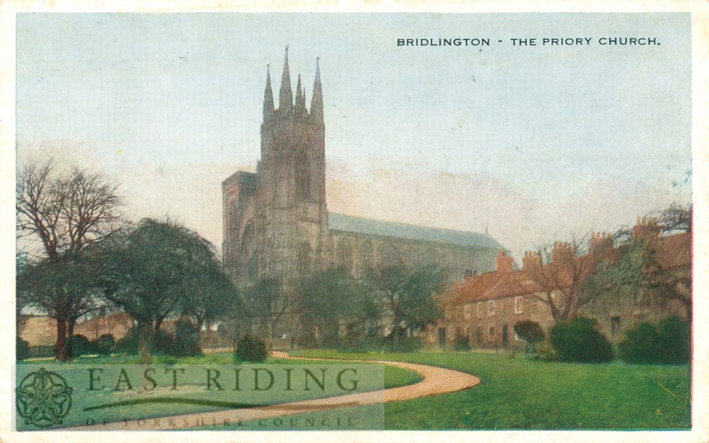Priory Church, Bridlington 1936, tinted