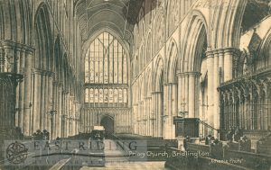 Priory Church interior, Bridlington 1910