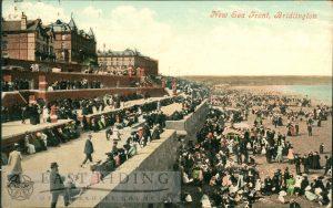 Terraces and beach, Bridlington 1906, tinted