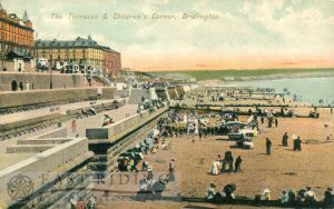 The Terraces and Children's Corner, Bridlington 1906, tinted