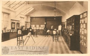 Girls High School – art room, Bridlington 1910s