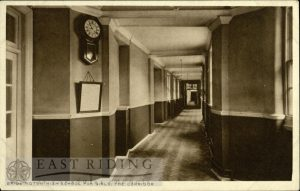 Girls High School – corridor, Bridlington 1910s