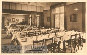 Girls High School – dining room, Bridlington 1910s