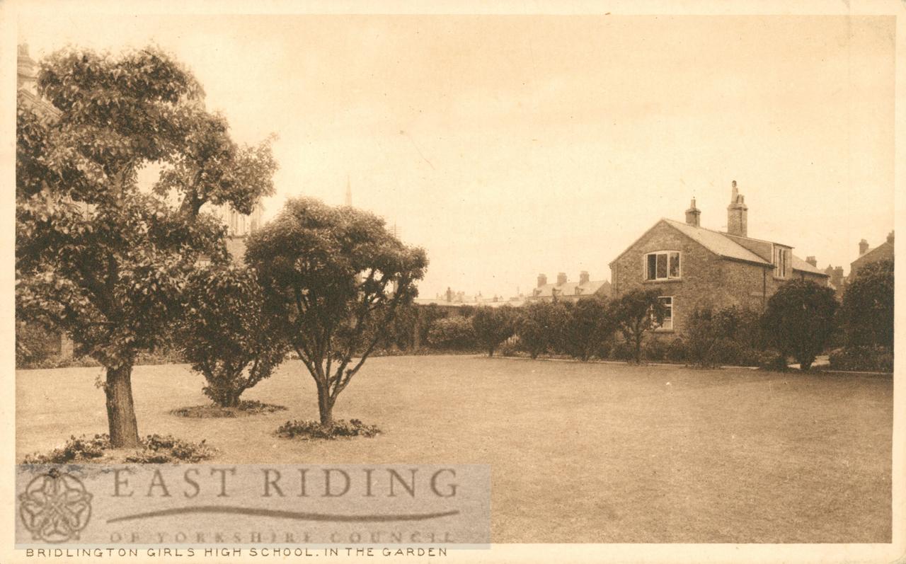 Girls High School – garden, Bridlington 1910s | East Riding Archives ...