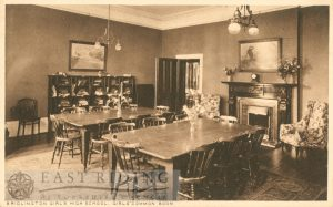 Girls High School – common room, Bridlington 1910s