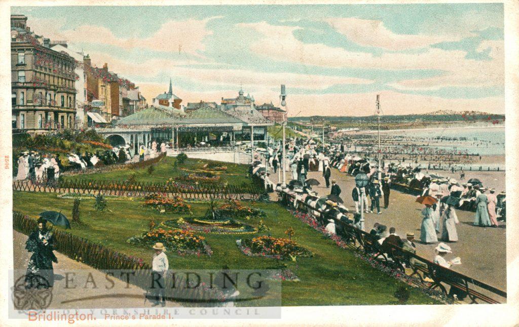 Princes Parade from south, Bridlington 1905, tinted
