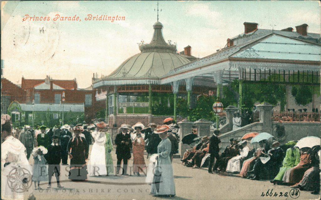 Princes Parade from north, Bridlington 1905, tinted