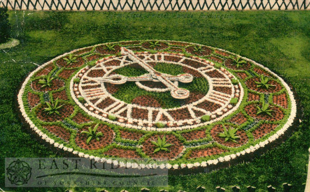 Princes Parade – Floral Clock, Bridlington 1900s, tinted