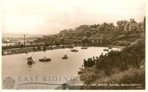Boating Lake, Bridlington 1934