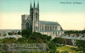 Priory Church, Bridlington c.1900s, tinted