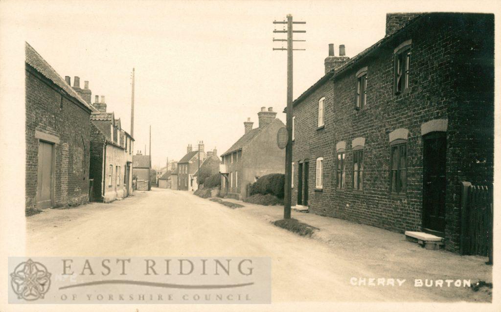 Main Street, Cherry Burton 1920s