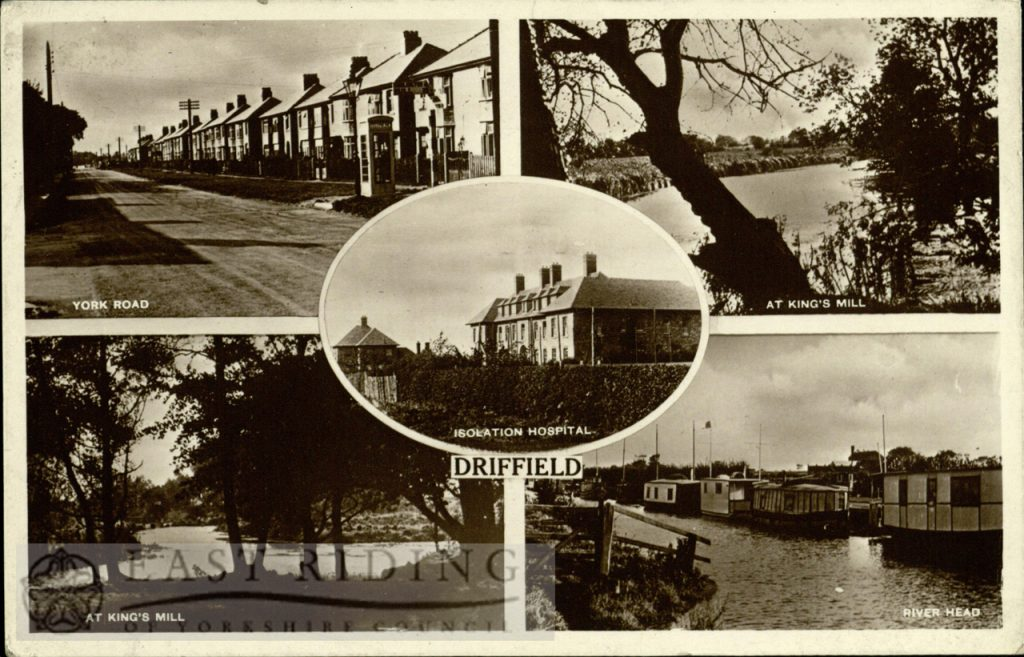 Driffield – 4 small views (Isolation Hospital, Kings Mill, River Head, York Road)