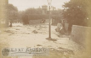Floods – Albion Street, Driffield 20th May 1910