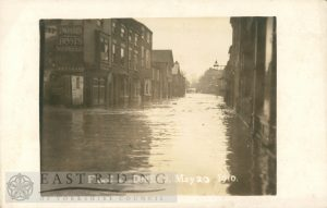 Floods – Exchange Street, Driffield 20th May 1910