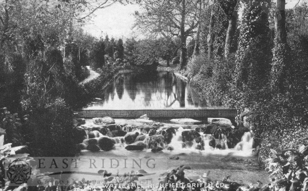 Highfield, waterfall, Driffield