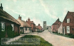 High Street, Easington (with All Saints Church in background)