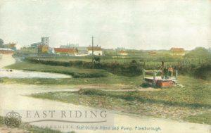 Pond and pump, Flamborough 1900s, tinted