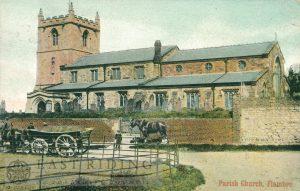 St Oswald's Church, Flamborough 1908, tinted