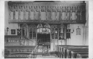 St Oswald's Church interior, Flamborough 1938
