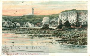 Silex Bay and Lighthouse, Flamborough 1906, tinted