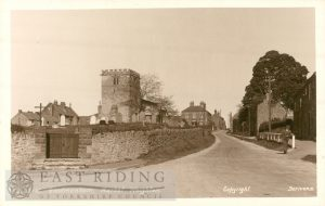 Village street and All Saints Church from south west, Goodmanham  1930