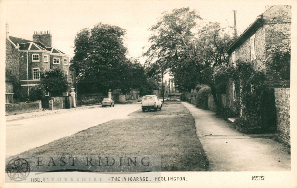 The vicarage and Heslington Lane, Heslington  1960s