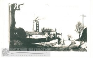Atwick Road and Mill from South Hornsea 1900